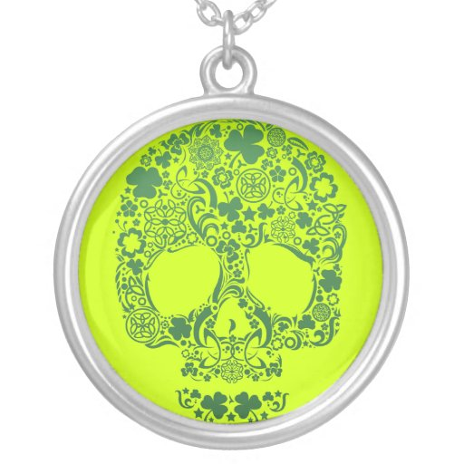St Patty's Day Multi Skull Neckalce Personalized Necklace