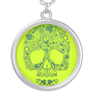St Patty's Day Multi Skull Neckalce Round Pendant Necklace