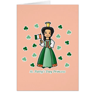 St. Patty's Day Princess Greeting Card