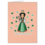 St. Patty's Day Princess Greeting Cards