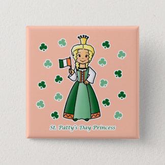 St. Patty's Day Princess Pinback Button