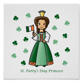 St. Patty's Day Princess Poster