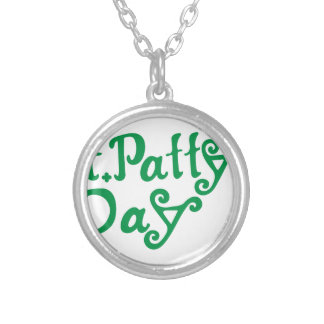 St. Pattys Day Round Pendant Necklace