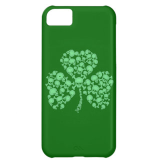 St. Patty's Day Shamrock Skulls iPhone 5C Case