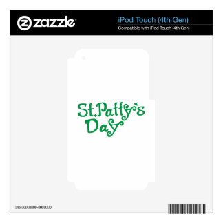 St. Pattys Day Skin For iPod Touch 4G