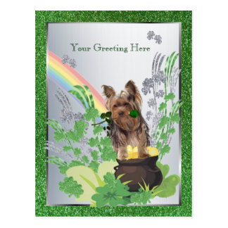 St Pattys del perrito de Yorkshire Terrier - Postales
