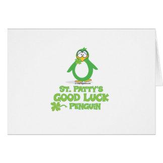 St Patty's Good Luck Penguin Card