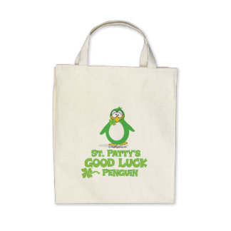 St Patty's Good Luck Penguin Tote Bags