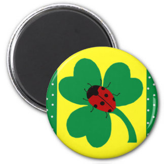 St. Patty's Ladybugs 2 Inch Round Magnet