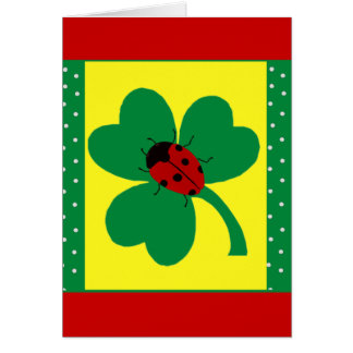 St. Patty's Ladybugs Greeting Cards