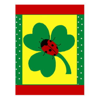 St. Patty's Ladybugs Post Cards