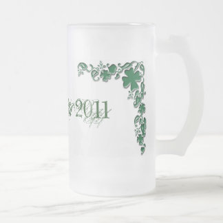 St. Patty's... 16 Oz Frosted Glass Beer Mug