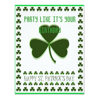 St Patty's Party Card