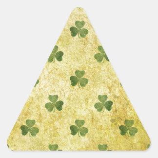St Patty's Shamrock Triangle Sticker