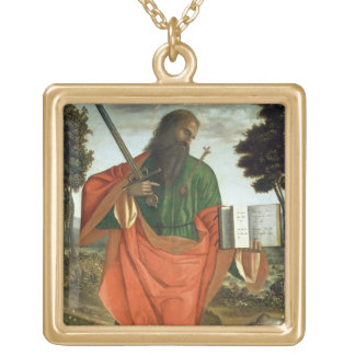 St. Paul, 1520 (oil on panel) Gold Plated Necklace