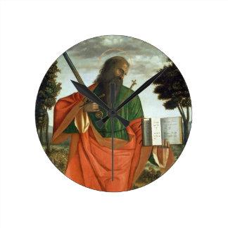 St. Paul, 1520 (oil on panel) Round Clock