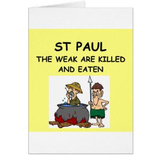 ST PAUL GREETING CARD
