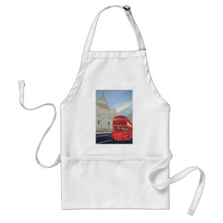 St.Paul Cathedral and London Bus Adult Apron