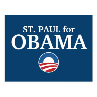 ST. PAUL for Obama custom your city personalized Postcard