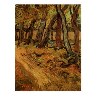 St-Paul Hospital Garden, Figure, Van Gogh Fine Art Postcard