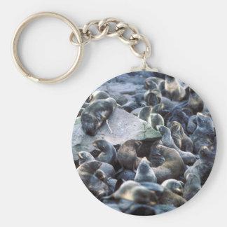 St Paul Island Fur seal rookery Pribilofs Keychains