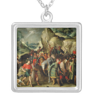 St. Paul Led to Damascus After his Conversion Silver Plated Necklace