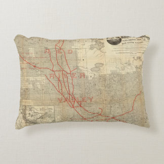 St Paul, Minneapolis and Manitoba Railway Accent Pillow