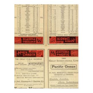 St Paul, Minneapolis and Manitoba Railway Postcard