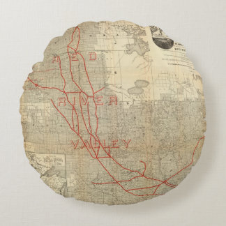 St Paul, Minneapolis and Manitoba Railway Round Pillow