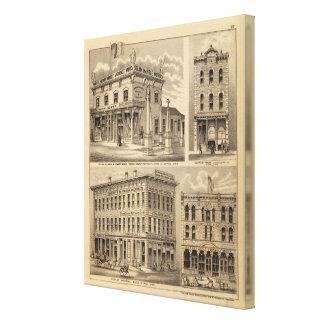St. Paul, Minneapolis, Minnesota Lithograph Map Canvas Print