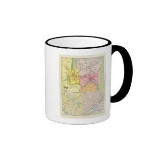 St. Paul, Minneapolis, Minnesota Ringer Coffee Mug