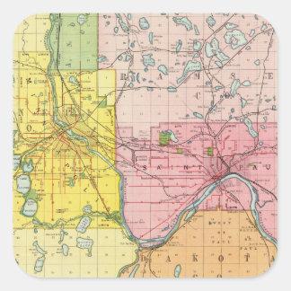 St. Paul, Minneapolis, Minnesota Square Sticker