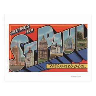 St Paul Minnesota - Large Letter Scenes Postcard