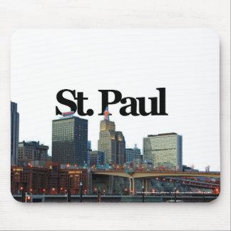 St. Paul Minnesota Skyline w/ St. Paul in the Sky Mouse Pad