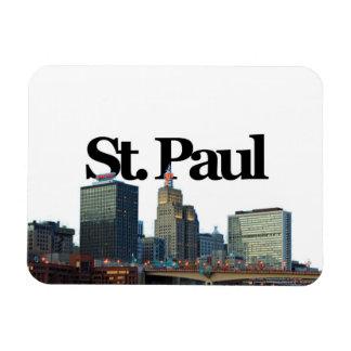 St. Paul, Minnesota Skyline w/ St. Paul in the Sky Rectangular Photo Magnet