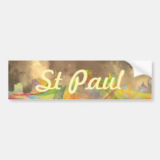 ST PAUL, MINNESOTA SKYLINE WB1 - CAR BUMPER STICKER