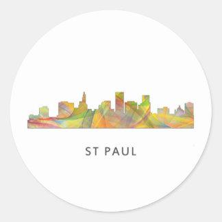 ST PAUL, MINNESOTA SKYLINE WB1 - CLASSIC ROUND STICKER