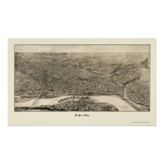 St. Paul, MN Panoramic Map - 1906 Poster