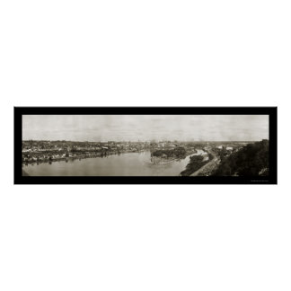 St. Paul MN Riverview Photo 1911 Poster