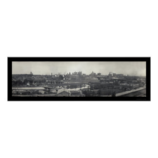 St Paul MN Skyline Photo 1915 Poster