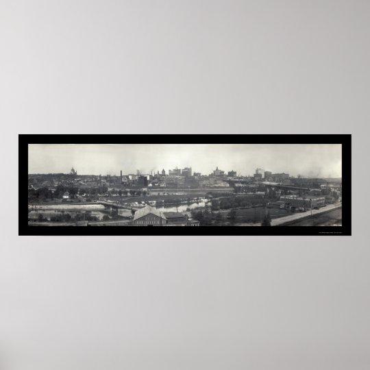 St Paul MN Skyline Photo 1915 Poster