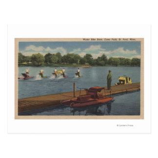 St. Paul, MN - Water Bike Race in Como Park Postcard