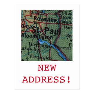 St Paul New Address announcement Postcard