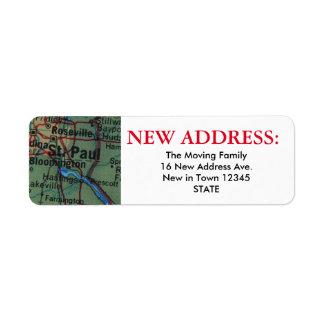 St Paul New Address Label