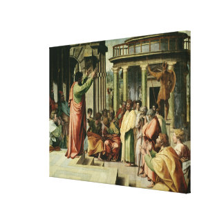 St. Paul Preaching at Athens (cartoon for the Sist Canvas Print