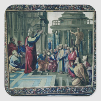 St. Paul Preaching at the Areopagus Square Sticker