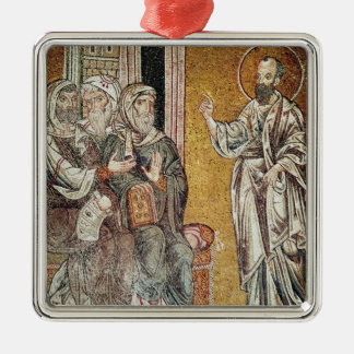 St. Paul Preaching to the Jews Metal Ornament