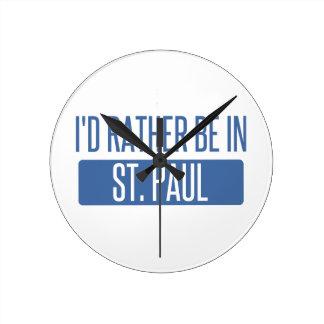 St. Paul Round Clock