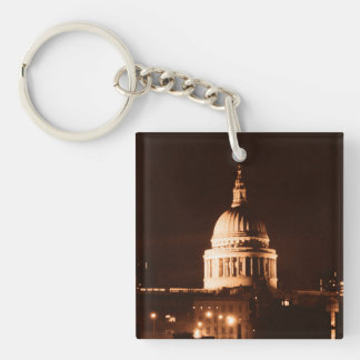 St Paul's Cathedral Dome Sepia Keychain