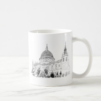 St Paul s Cathedral pen and ink drawing Coffee Mug